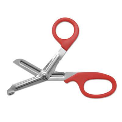 """View larger image of Stainless Steel Office Snips, 7"""" Long, 1.75"""" Cut Length, Red Offset Handle"""