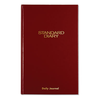 View larger image of Standard Diary Recycled Daily Journal, Red, 12.13 x 7.69, 2021
