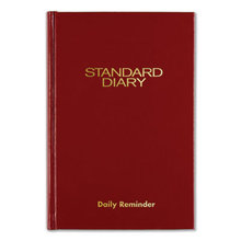 Standard Diary Recycled Daily Reminder, Red, 7.5 x 5.13, 2021