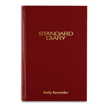 Standard Diary Recycled Daily Reminder, Red, 8.25 x 5.75, 2021