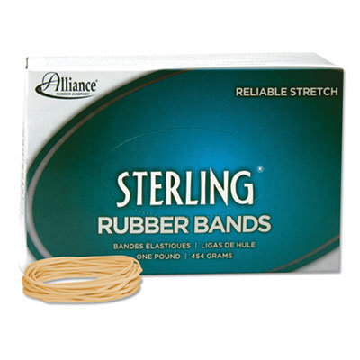 """View larger image of Sterling Rubber Bands, Size 19, 0.03"""" Gauge, Crepe, 1 lb Box, 1,700/Box"""