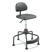 """Task Master Economy Industrial Chair, 35"""" Seat Height, Supports up to 250 lbs., Black Seat/Black Back, Black Base"""