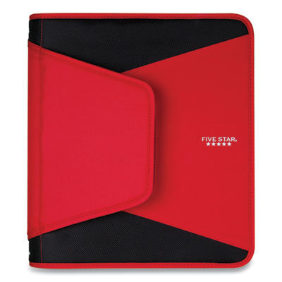 """View larger image of Tech Zipper Binder, 3 Rings, 1.5"""" Capacity, 11 x 8.5, Red/Black Accents"""