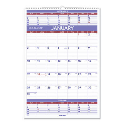 View larger image of Three-Month Wall Calendar, 15.5 x 22.75, 2021