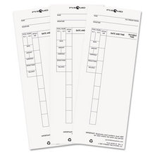 Time Card for Model 4000 Payroll Recorder, 3-1/2 x 8-1/2, 100/Pack