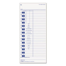 Time Card for Pyramid, Weekly, 4 x 9, 100/Pack