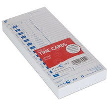 Time Cards for 3000 Series Time Clocks, Weekly, 4 x 9, 100/Pack