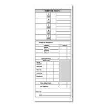 Time Cards for Models 1000, 2000 Time Clocks, Weekly, Two Sided, 3.5 x 9, 100/Pack