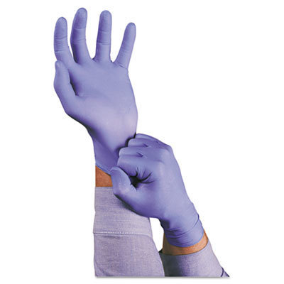 View larger image of TNT Disposable Nitrile Gloves, Non-powdered, Blue, Medium, 100/Box
