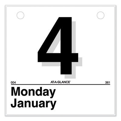 View larger image of Today Is Daily Wall Calendar Refill, 6 x 6, White, 2021