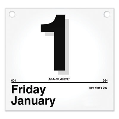 View larger image of Today Is Daily Wall Calendar Refill, 8.5 x 8, White, 2021