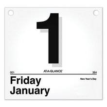 Today Is Daily Wall Calendar Refill, 8.5 x 8, White, 2021