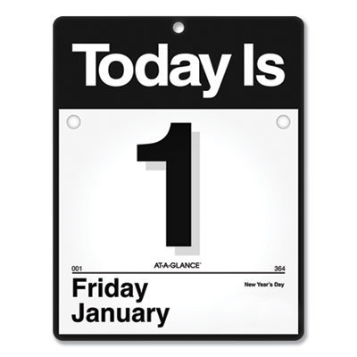 View larger image of Today Is Wall Calendar, 9.5 x 12, White, 2021