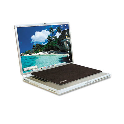 View larger image of Travel Notebook Optical Mouse Pad, Nonskid Back, 11 x 7 1/4, Black