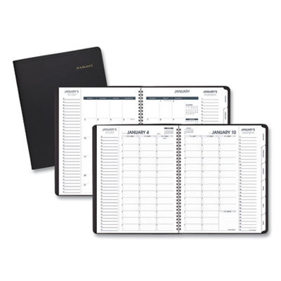 View larger image of Triple View Weekly/Monthly Appointment Book, 11 x 8.25, Black, 2021