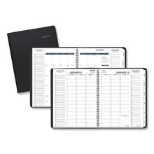 Triple View Weekly/Monthly Appointment Book, 11 x 8.25, Black, 2021