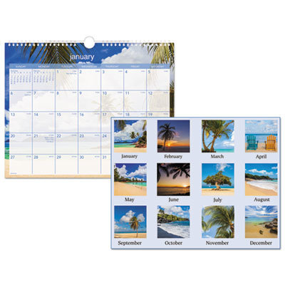 View larger image of Tropical Escape Wall Calendar, 15 x 12, 2021