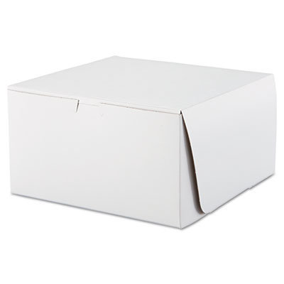 View larger image of Tuck-Top Bakery Boxes, 10 x 10 x 5.5, White, 100/Carton