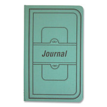 Tuff Series Accounting Journal, Green Cover, 7.25 x 12.13, 500 White Pages