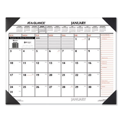 View larger image of Two-Color Monthly Desk Pad Calendar, 22 x 17, 2021