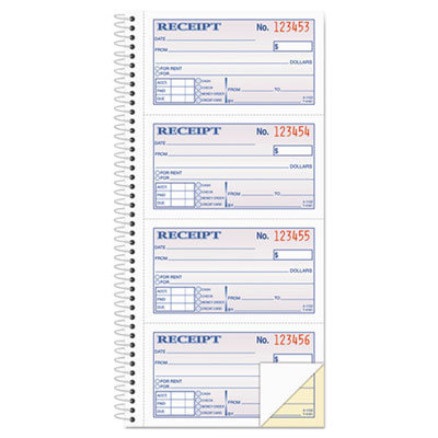 View larger image of Two-Part Rent Receipt Book, 2 3/4 x 4 3/4, Carbonless, 200 Forms