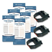 TXP300 Accessory Bundle, 3.5 x 7.5, Bi-Weekly/Weekly, Two-Sided, 300 Cards and 3 Ribbons/Kit