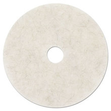 """Ultra High-Speed Natural Blend Floor Burnishing Pads 3300, 27"""" Dia., White, 5/CT"""