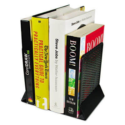 View larger image of Urban Collection Punched Metal Bookends, 6 1/2 x 6 1/2 x 5 1/2, Black