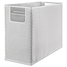 """Urban Collection Punched Metal Desktop File, 1 Section, Letter to Legal Size Files, 13"""" x 5.75"""" x 10.75"""", White"""