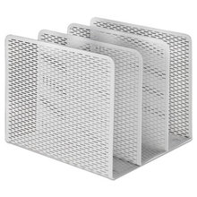"""Urban Collection Punched Metal File Sorter, 3 Sections, Letter Size Files, 8"""" x 8"""" x 7.25"""", White"""