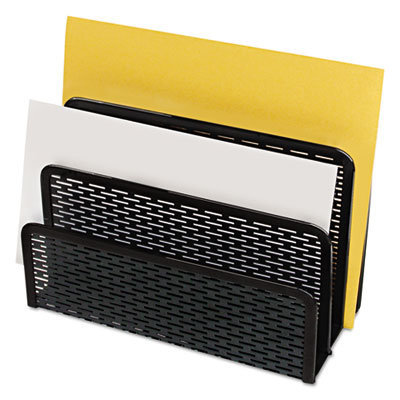 """View larger image of Urban Collection Punched Metal Letter Sorter, 3 Sections, DL to A6 Size Files, 6.5"""" x 3.25"""" x 5.5"""", Black"""