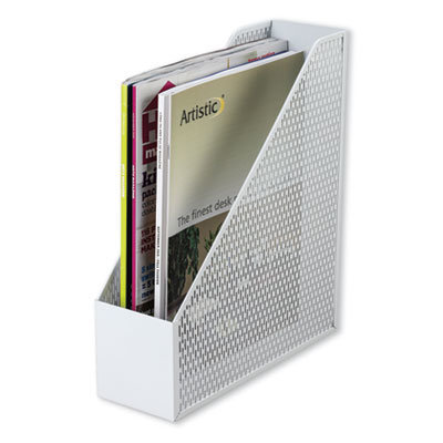 View larger image of Urban Collection Punched Metal Magazine File, 3 1/2 x 10 x 11 1/2, White