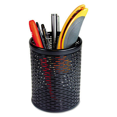 View larger image of Urban Collection Punched Metal Pencil Cup, 3 1/2 x 4 1/2, Black