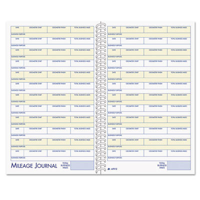 View larger image of Vehicle Mileage and Expense Book, 5 1/4 x 8 1/2, 49 Forms, 63 Pages