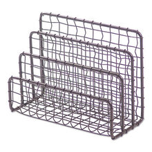 """Vintage Wire Mesh File and Letter Sorter, 3 Sections, DL to Legal Size Files, 6.63"""" x 2.88"""" x 5.13"""", Vintage Bronze"""