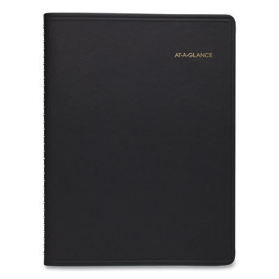View larger image of Weekly Appointment Book, 11 x 8.25, Black, 2021-2022
