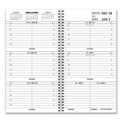 View larger image of Weekly Appointment Book Refill Hourly Ruled, 6.25 x 3.25, 2021