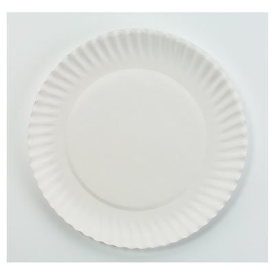 """View larger image of White Paper Plates, 6"""" dia, 100/Pack, 10 Packs/Carton"""