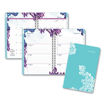 View larger image of Wild Washes Weekly/Monthly Planner, 8.5 x 5.5, Floral, Animal, 2021