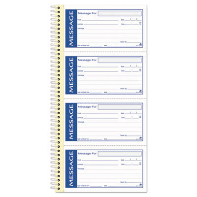 View larger image of Write 'n Stick Phone Message Pad, 2 3/4 x 4 3/4, Two-Part Carbonless, 200 Forms