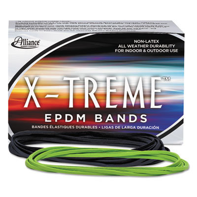 """View larger image of X-Treme Rubber Bands, Size 117B, 0.08"""" Gauge, Lime Green, 1 lb Box, 200/Box"""
